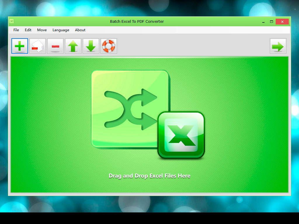 Batch Excel To PDF Converter full screenshot